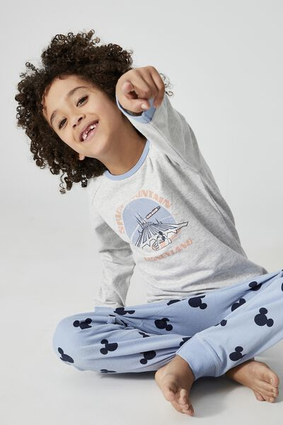 Oscar Long Sleeve Pyjama Set Licensed, LCN DIS DISNEYLAND SPACE MOUNTAIN/SUMMER GREY