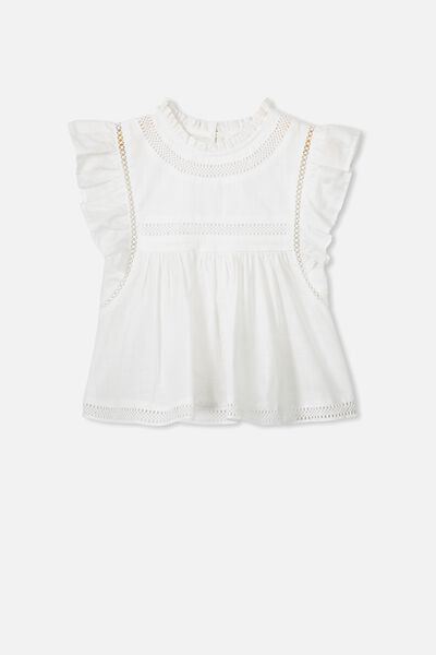 Lou High Neck Top, WHITE