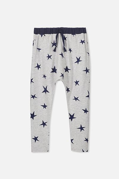 Daisy Pant, LIGHT GREY MARLE/STAR YARDAGE