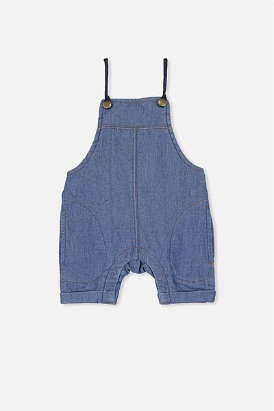 Robby Short Leg Overall, BLUE WASH