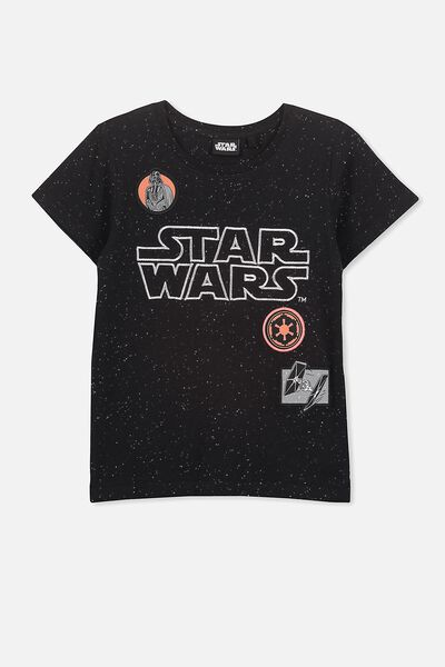 Short Sleeve License Tee, PHANTOM NEP/STAR WARS BADGES