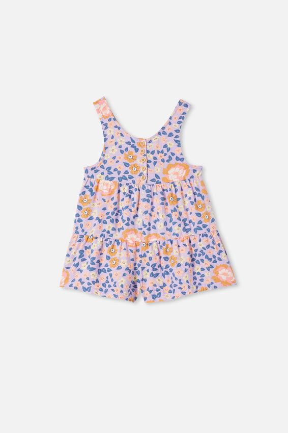 Kip&Co Girls Playsuit, LCNKIP FOREST FLOOR