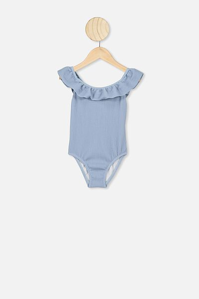 Frankie Frill One Piece, DUSTY BLUE