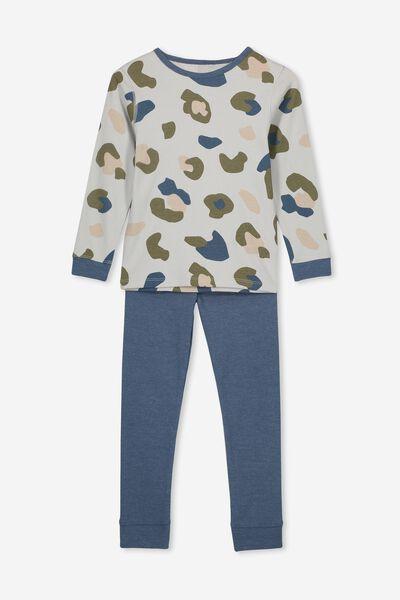 Harry V4 Boys Long Sleeve Pyjama Set, CAMO YARDAGE