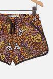 Nina Knit Short, PHANTOM/ FLORAL FIELDS