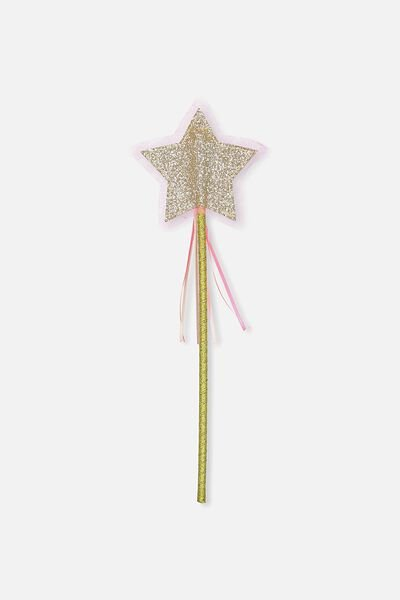Shooting Stars Wand, GOLDY PINK STAR