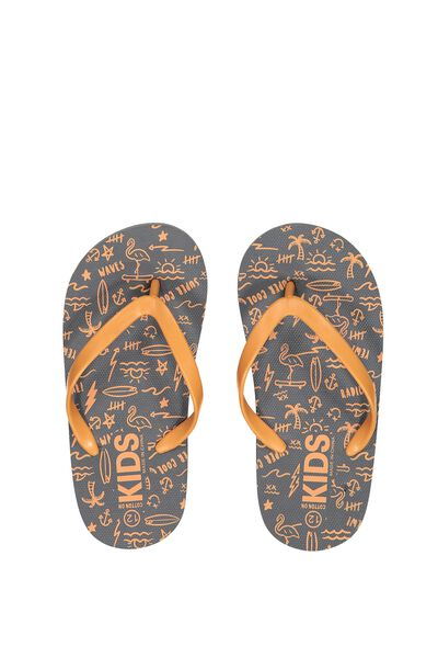 Printed Flip Flop, B MIXED SURF
