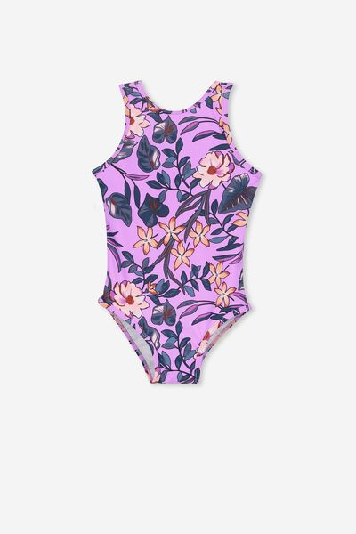 Lisette One Piece, LILAC TROPICAL FLORAL