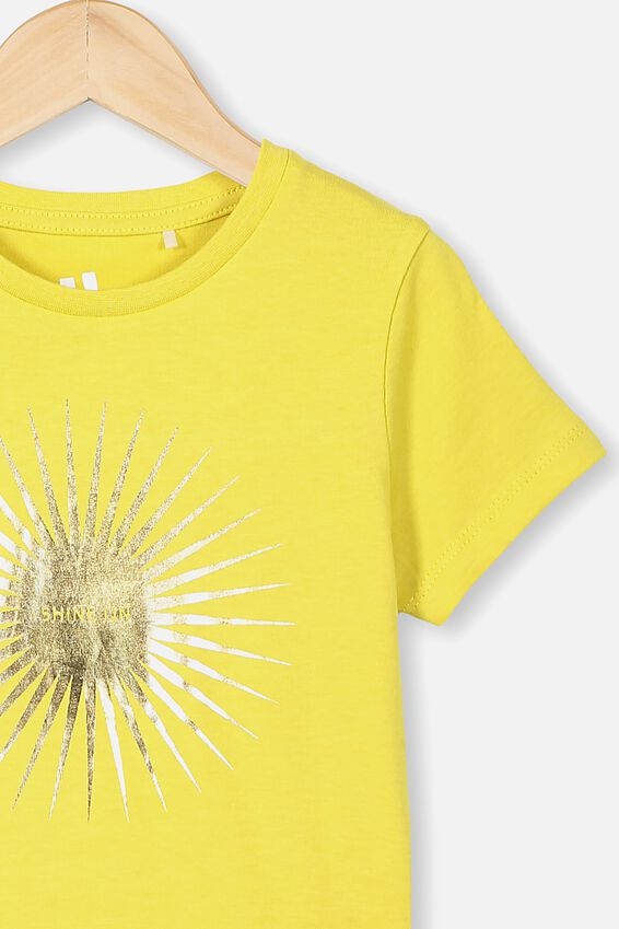 Penelope Short Sleeve Tee, SUNSHINE SHINE ON