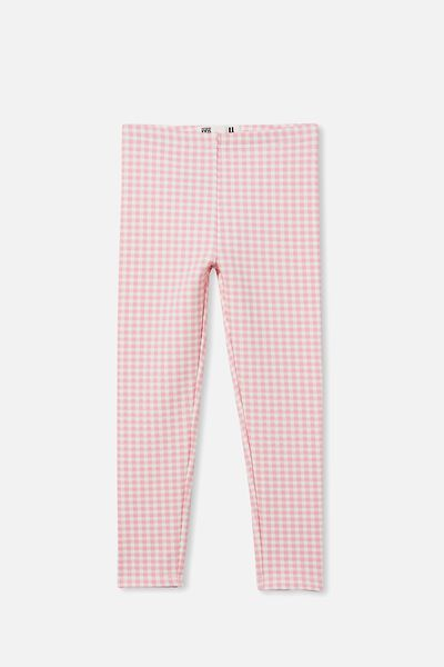 Fleece Legging, MARSHMALLOW GINGHAM