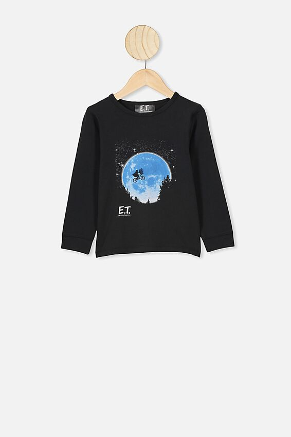 Ethan Long Sleeve Pyjama Set, LCN UNI E.T BLACK
