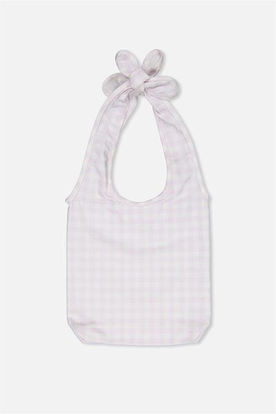 Gingham Bow Bag, MISTY LILAC/GINGHAM