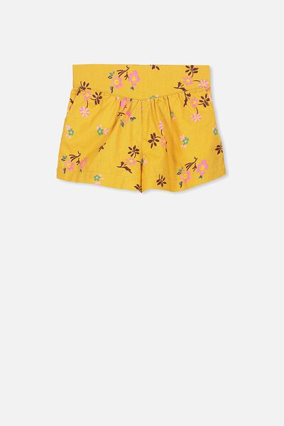 Callie Short, MINERAL YELLOW/POP DITSY FLORAL