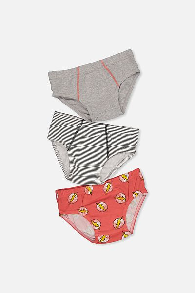 Boys License Brief 3 Pack, THE FLASH MIX