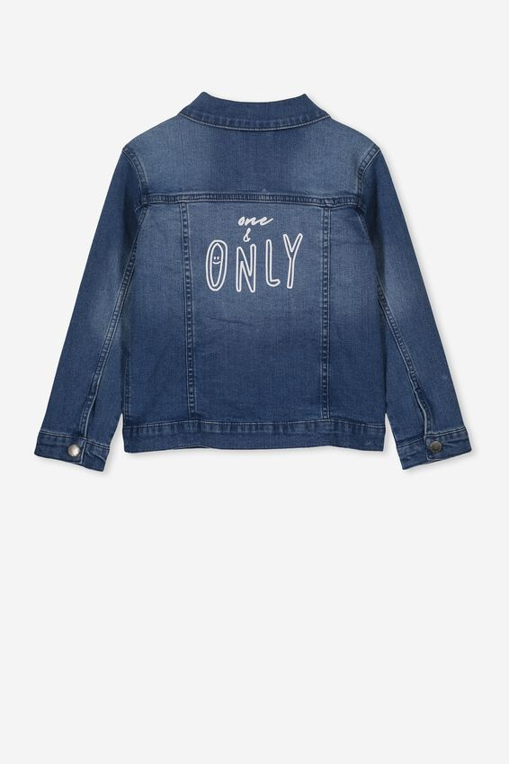Daisy Denim Jacket Personalized, VINTAGE WASH