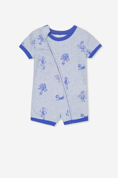 License Ss Zip Through Romper, FUN BLUE MARLE/TOY STORY