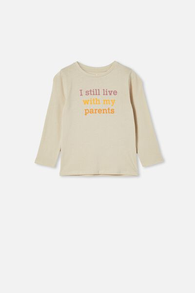 Penelope Long Sleeve Tee, RAINY DAY/I STILL LIVE WITH MY PARENTS