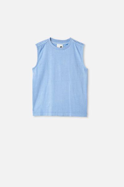 Otis Muscle Tank Wash, DUSK BLUE GARMENT DYE