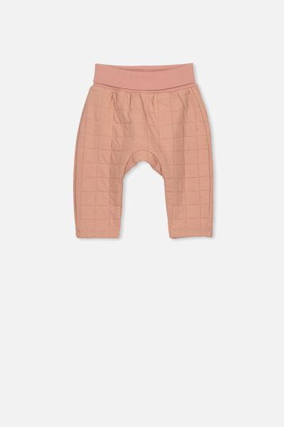Rory Quilted Trackpant, CAMEO BROWN