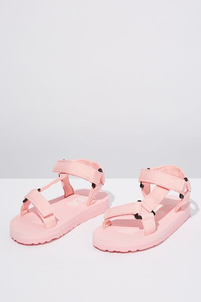 Charlie Woven Strap Sandal, PINK