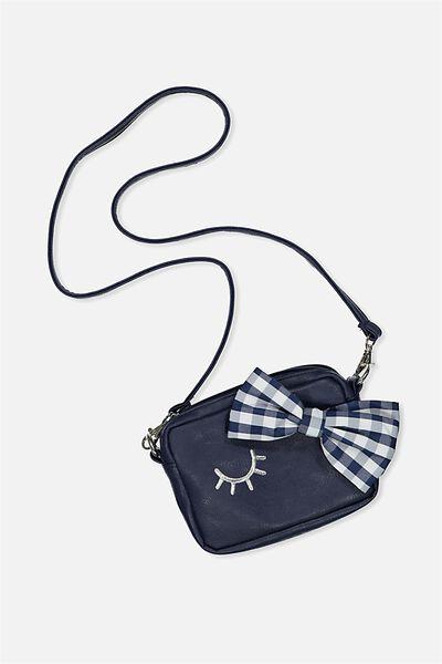 Fashion Camera Bag, PEACOAT/GINGHAM