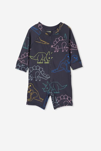 Harris One Piece, NAVY/COLOURED DINOSAURS