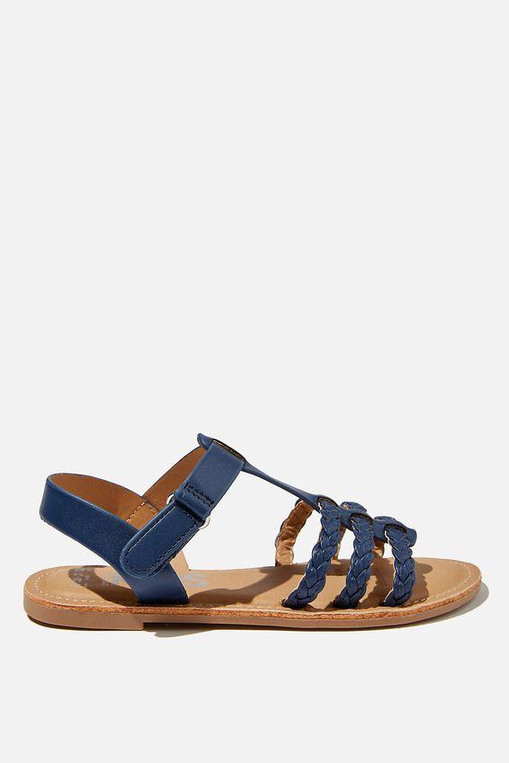 Woven Braid Sandal, NAVY