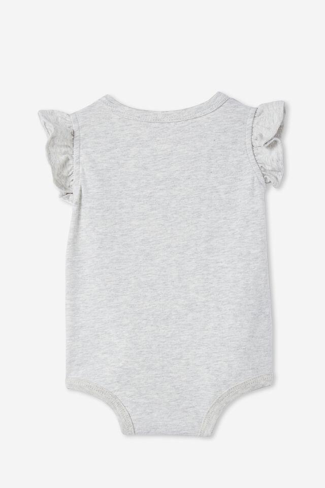 The Sleeveless Ruffle Bubbysuit, CLOUD MARLE