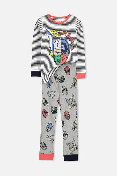 Harry Long Sleeve Boys PJ Set, MARVEL MEGA HEADS