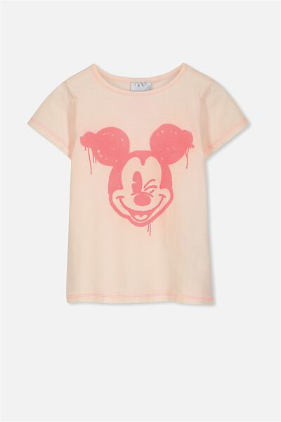 Lux Short Sleeve Tee, SPRAY MICKEY/LIGHT PINK
