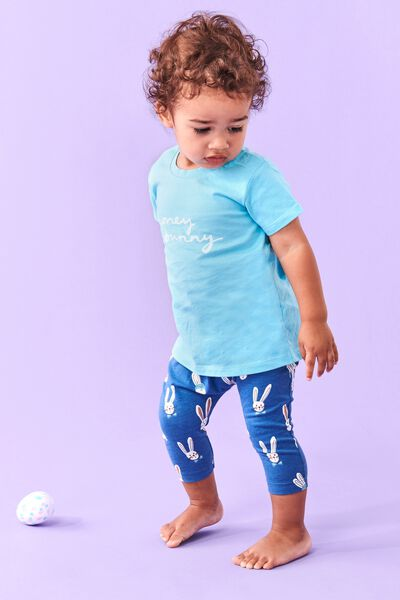 The Legging, PETTY BLUE/BAILEY BUNNY
