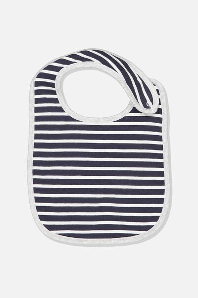 The Baby Bib, INDIAN INK/LOLLIPOP/WHITE STRIPE