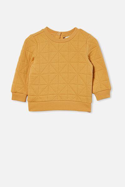 Greer Quilted Sweater, VINTAGE HONEY