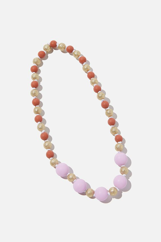 Mixed Beaded Necklace, PALE VIOLET
