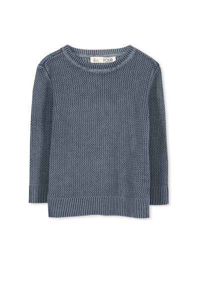 Nelson Knit, WASHED SKATE BLUE