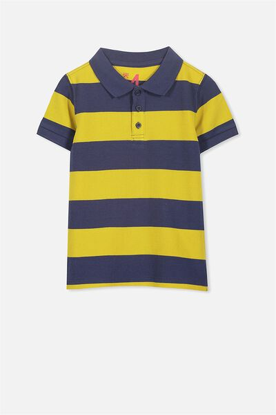 Kenny3 Polo, WASHED NAVY/MUSTARD