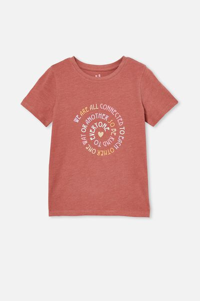Penelope Short Sleeve Tee, CHUTNEY MARLE/ALL CONNECTED