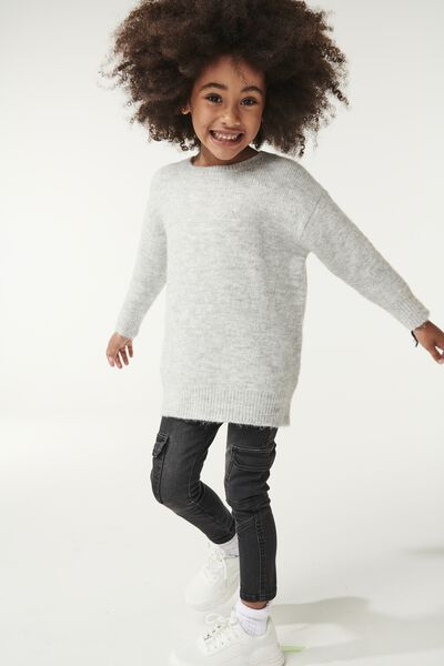 Brinley Knit Jumper, SUMMER GREY MARLE
