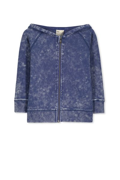 Ryder Zip Up Hoodie, WASHED CAPTAIN BLUE