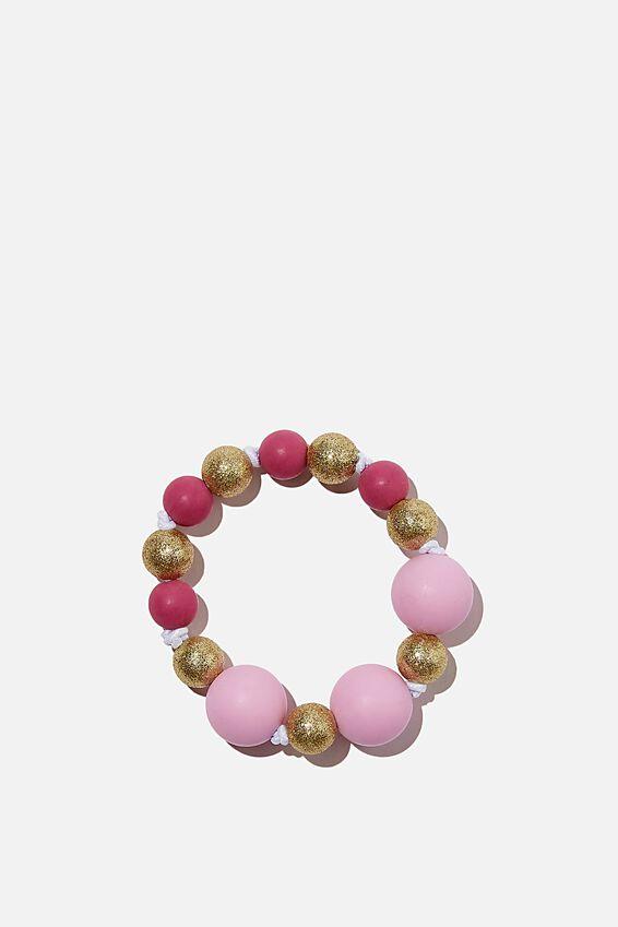 Beaded Bracelet, FUSCHIA POP
