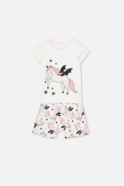 Harpa Ss Pj Set, FLYING UNICORN/PINK