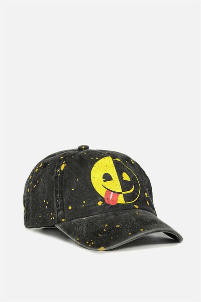Licensed Baseball Cap, EMOJI PAINT SPLATTER