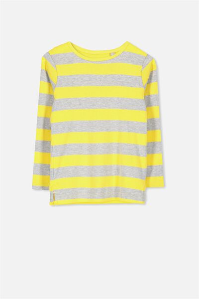 Jessie Crew Long Sleeve Tee, MEADOWLARK STRIPE