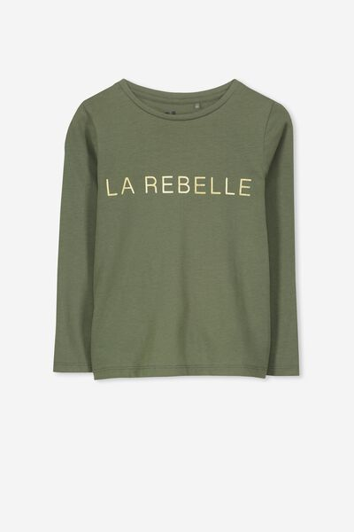 Penelope Long Sleeve Tee, FOUR LEAF CLOVE/LA REBELLE/SET IN