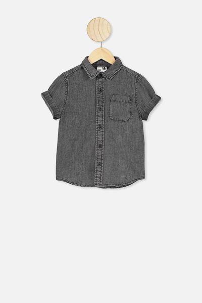 Resort Short Sleeve Shirt, BLACK WASH
