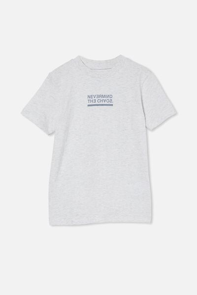 Max Skater Short Sleeve Tee, SUMMER GREY MARLE/NEVERMIND THE CHAOS