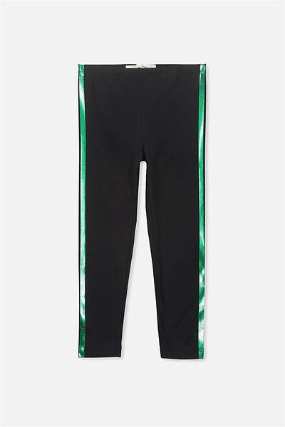 Huggie Leggings, BLACK/SIDE STRIPE