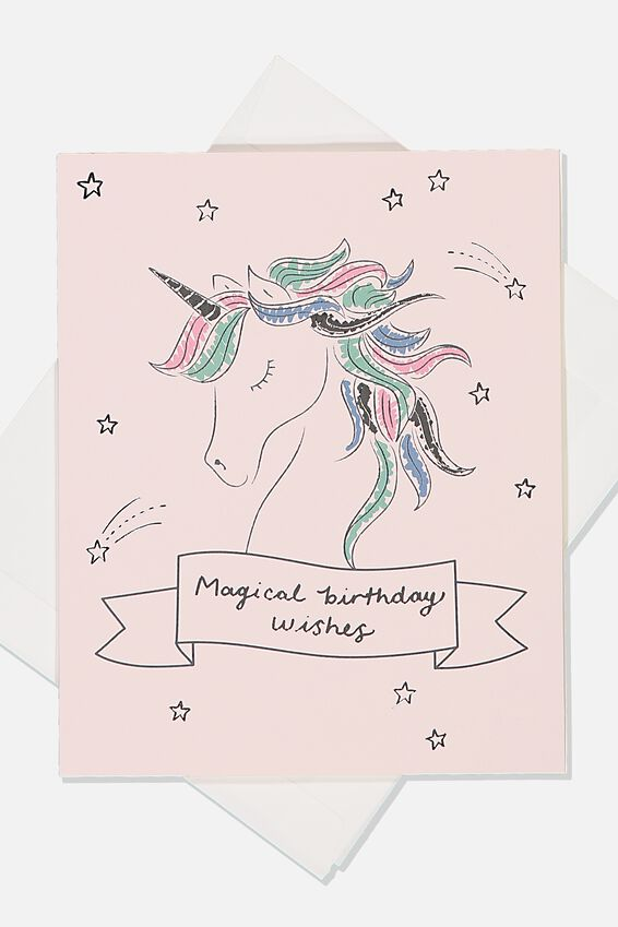 Birthday Gift Card, FOIL PRINTED MAGICAL BIRTHDAY