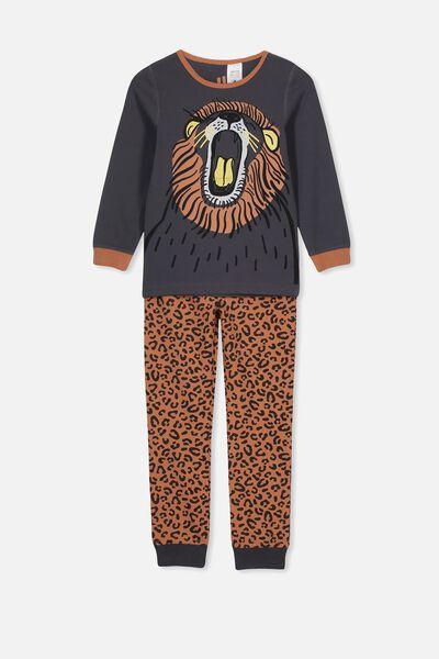 Harrison Long Sleeve Boys Pyjamas, ROAR LION