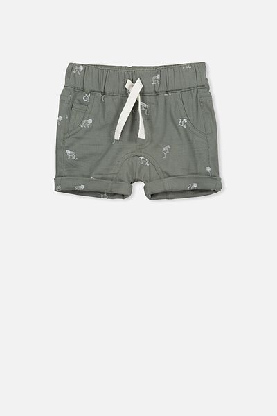 Jamie Slouch Short, WINTER GREEN/LEOPARDS